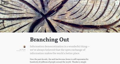 Branching Out — The Obvious Collection — Medium