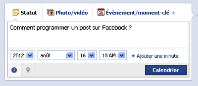 programmer un post sur facebook